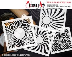 Swirls Templates 4 Digital Swirls Pattern Cookie Stencil Templates Svg Dxf Cut Files Download Diy Mylar Film Die Cutting Crafts Silhouette Cricut Jb 1578