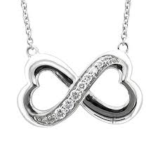 infinity heart. amazon.com: sterling silver infinity heart 7 stone diamond pendant necklace (1/4 carat): jewelry c