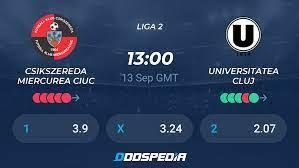 Csikszereda Miercurea Ciuc - Universitatea Cluj » Live Stream & Ticker +  Quoten, Statistiken, News