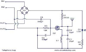 fm telephone bug electronic circuits and diagram electronics Wiring Schematic Diagram 200m Fm Transmitter Simple Circuit telephone_ bug circuit jpg