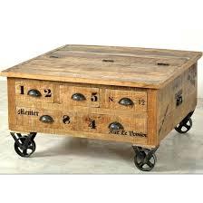 rustic storage coffee table rustic storage trunk coffee table original rustic solid oak 4 drawer storage coffee table