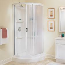 38 white round shower enclosure kit