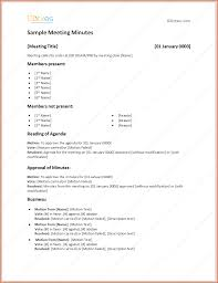 Minutes Sample Format 6 Format For Meeting Minutes Bookletemplate Org
