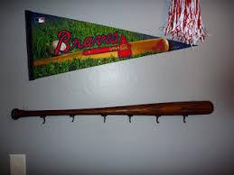 Baseball Coat Rack DoItMyself Crafts Baseball Bat Coat Rack Jeters room 22