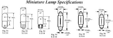 Wedge Bulb Size Chart Automotive Car Replacement Visual Light Bulb Finder