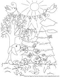 Spring Coloring Pages 18 Best Icolor Little Kids Springtime Images