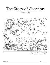 creation coloring pages for preers creation genesis 1 1 18 kcmb ch 1 coloring page