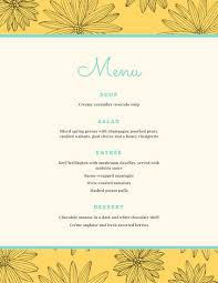 Dinner Party Menu Template Magdalene Project Org