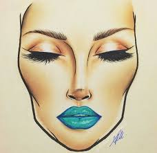 Face Chart Artist Unknown To Me In 2019 Mac Face
