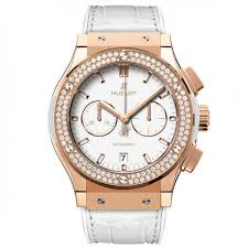 hublot classic fusion white dial 18 carat rose gold with diamonds case white leather band automatic mens watch 541oe2080lr1104 541oe2080lr1104 jpg