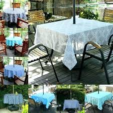 round outdoor tablecloth with square fitted zipper