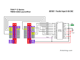 pins arduining tiva c ad7801 wiring