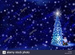 Falling Christmas Tree Lights Christmas Tree With Glowing Lights On A Garland And A