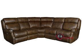 mcgwire power reclining leather true sectional sofa with down blend cushions by bernhardt in 232 202