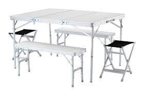 Camping Folding Table And Chairs Set Wonderful Strong Sturdy Picnic Table And Chairs Set For 4 That