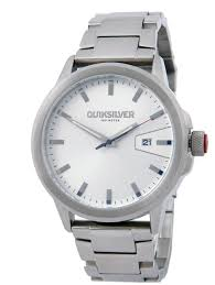 quiksilver kombat ss watch silver black surfstitch silver black mens accessories quiksilver watches pqm168jfbsil