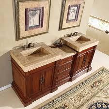 Silkroad Exclusive HYP021892 Bathroom Vanity Travertine Vanity Vanity Tops With Double Sink