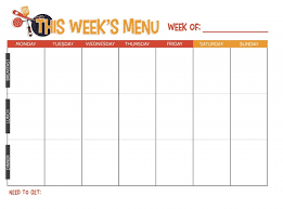 weekly menue planner free printable weekly meal planner not quite susie homemaker