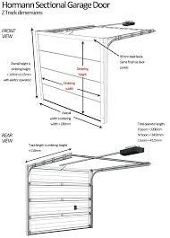 garage doors sizes sectional door sizing details garage door opening size nz