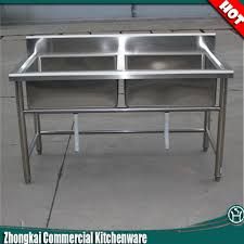 high quality ss304 stainless steel fish cleaning table with sink commercial kitchen sink table ss304 stainless steel fish cleaning table with sink