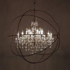 gyro crystal chandelier medium trisk antique rust 1 28
