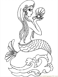 Small Picture Mermaid Coloring Page 04 Coloring Page Free Fantasy Coloring