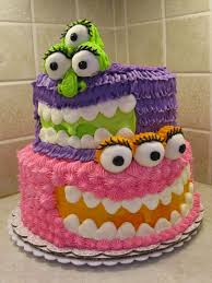Girly Monster Cake Recipes Cakecupcakes Easy Cakes For Kids