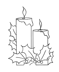 Small Picture Christmas Candles Coloring pages Two Christmas Candles and holly