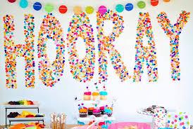 paper confetti birthday party decor ideas image source