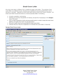 Samples Of Email Cover Letters Guamreview Com