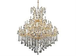 elegant lighting maria theresa royal cut gold crystal 49 light 60 wide