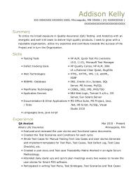 Bank Of America Qa Analyst Resume Sample Keller Texas