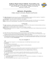 Athletic Resume Template Free Resume Templates For Student Athletes Therpgmovie 18