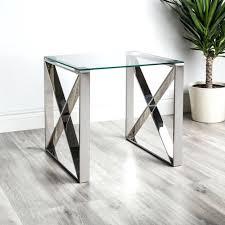 chrome side table side table chrome chrome side table base chrome and glass side table nz