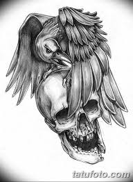 тату эскизы мужские ворон 09032019 012 Tattoo Sketches