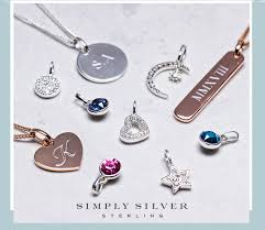 mix and match your favourite pendants and charms to build your own unique necklace in 925 sterling silver or 14ct rose gold plating