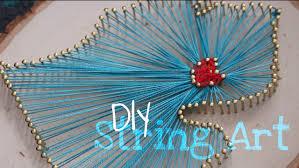 How To Do String Art Diy Easy State Outline String Art Tutorial Youtube