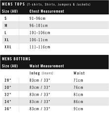 Mens Jeans Chart Size Guide Nana Judy