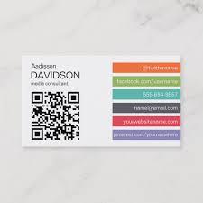 Bright Bar Qr Code Social Media Business Card J32 Design