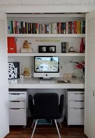 office closets. 15 Closets Turned Into Space-Saving Office Nooks Office Closets Pinterest