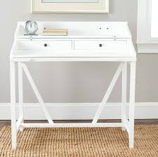 Small Desk Bedroom Furniture Vintage White Writing Desk With Wooden Tabletop And