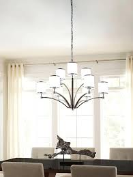 chandeliers 9 light chandelier prospect park satin nickel chrome opal glass allen and roth oil