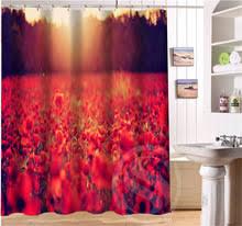 bathroom waterproof waterfalls nature scenery shower curtain beautiful natural scenery flowers pattern retro cartoon shower curtain