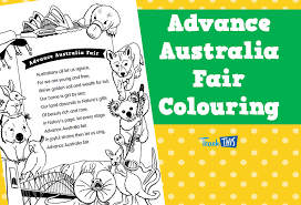 Advance Australia Fair - Colouring | Thematic Resources ...