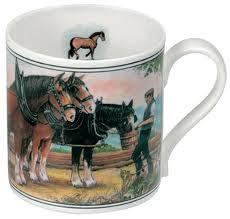 clydesdale horse ashley china mug