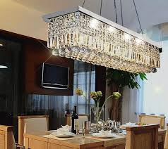 dining room crystal chandelier. Gorgeous Rectangular Crystal Chandelier Dining Room Allure With Silk Drum Shade Contemporary H