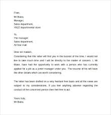Personal Reference Sample Personal Reference Letter Template 12 Samples Examples
