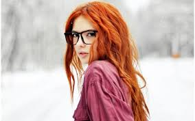 Tapety Tvář Ryšavý Model Dlouhé Vlasy Sluneční Brýle červené