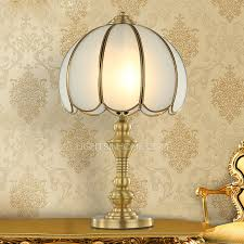 antique brass table lamps glass shade material living room 5