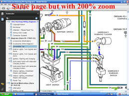 fordmanuals com 1966 colorized mustang wiring diagrams ebook screenshot of 1966 colorized mustang wiring diagram page but 200% zoom